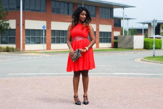 Little Mistress Short Orange Dress Picture