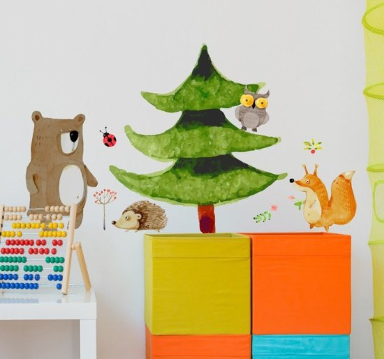 forest-critters-wall-sticker-9243