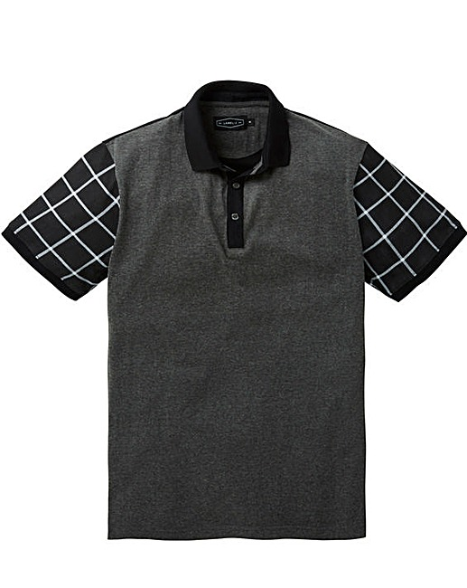 2ac312608 This stylish print sleeve polo shirt from the Label J Collection