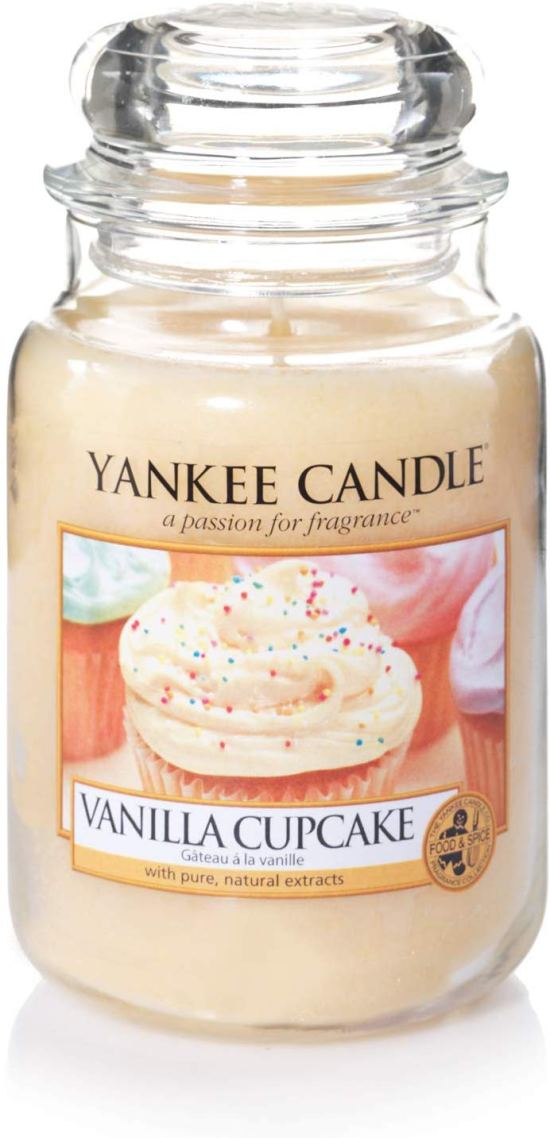 Yankee Candle Large Jar Scented Candle, Vanilla Cupcake, Up to 150 Hours Burn Time Image