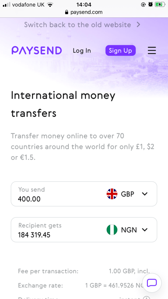Sending money overseas with Paysend image