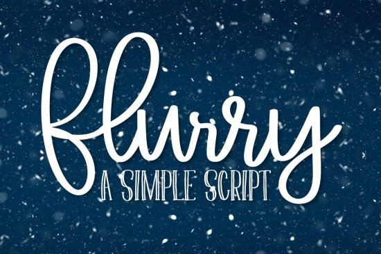 Flurry - A Simple Clean Script Font picture