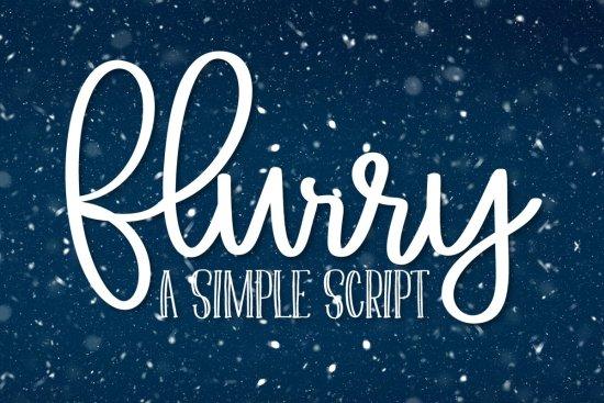 Flurry - A Simple Clean Script Font picture