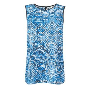 Prague Silk Snake Print Top