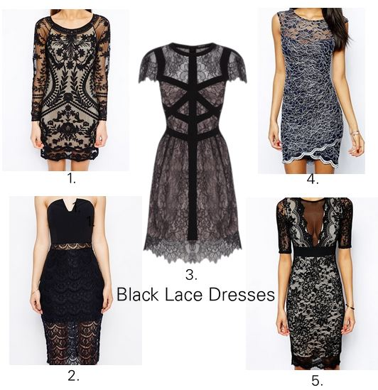 black lace dresses 2