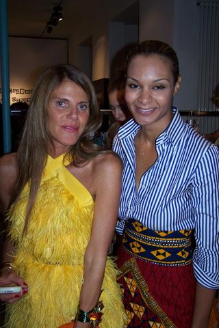 Stella Jean with Anna Dello Russo