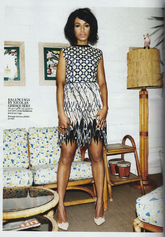 Kerry Washington by Jennifer Livingston for In Style May 2013