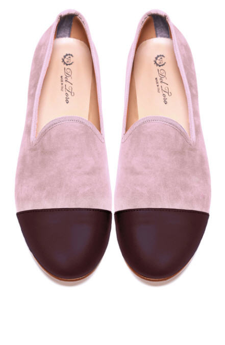 del-toro-fall-2013-prince-albert-blush-suede-slipper-loafers-with-merlot-cap-toes