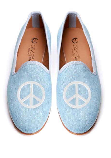 del-toro-fall-2013-prince-albert-denim-slipper-loafers-peace-sign-embroidery