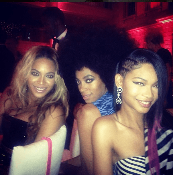 chanel iman beyonce solange instagram punk chaos to couture 2013 costume gala met instagram