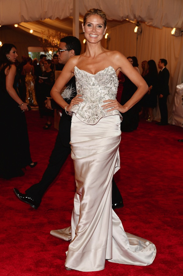 heidi klum The 2013 Metropolitan Museum of Art Costume Institute Gala- Punk Chaos to Couture