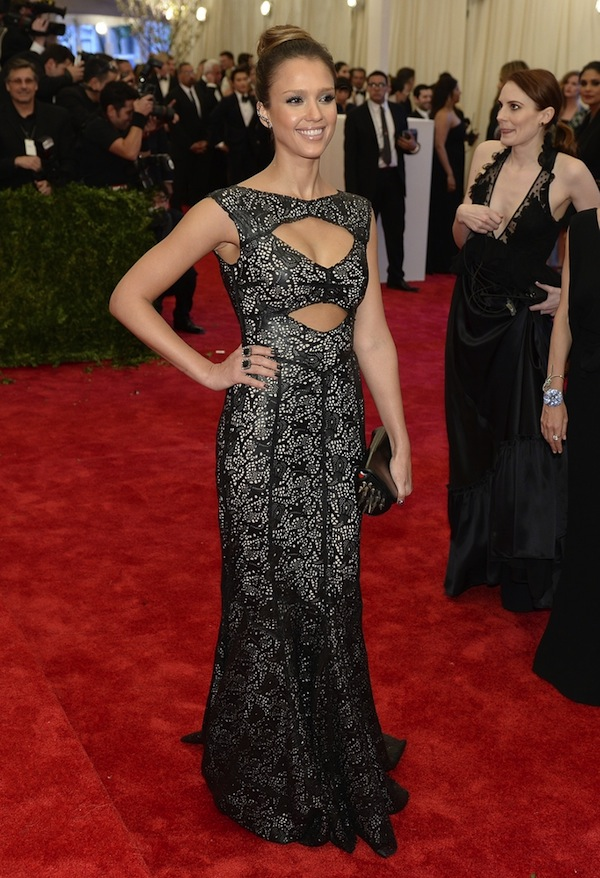 jessica alba The 2013 Metropolitan Museum of Art Costume Institute Gala- Punk Chaos to Couture