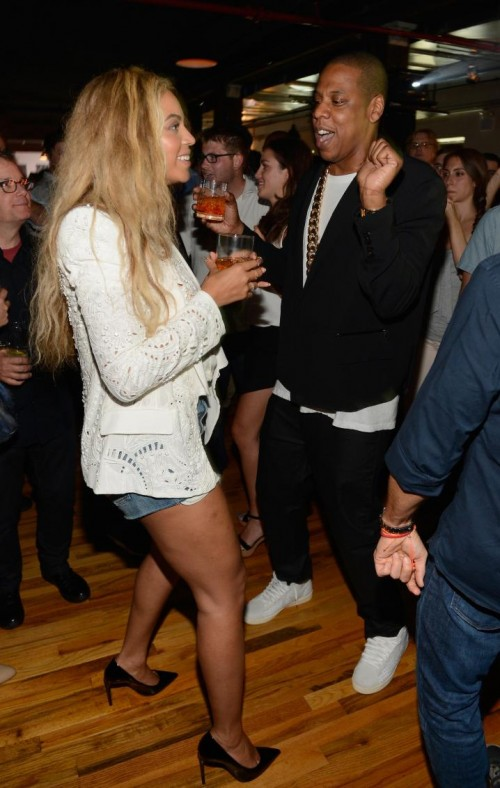 0 Beyonce's Magna Carta Album Release Party Roberto Cavalli Spring 2013 White Embellished Blazer