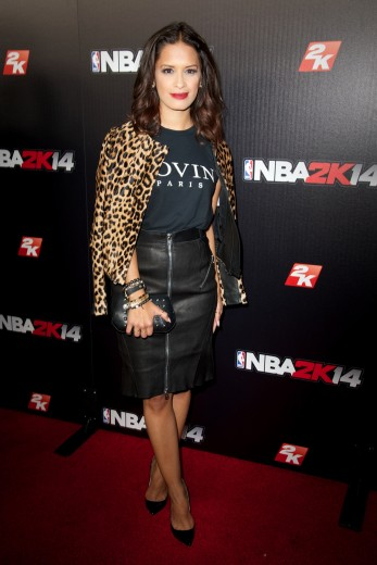 rocsi-diaz-nba-2k14-premiere-party-greystone-manor-west-hollywood-alc-leopard-print-jacket-alex-and-chloe-lovin-paris-tee-mcq-alexander-mcqueen-leather-zip-pencil-skir-1