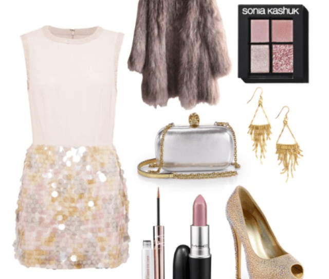 What To Wear For New Years Eve French Connection Shimmy Sequin Dress Giuseppe Zanotti Jeweled Satin