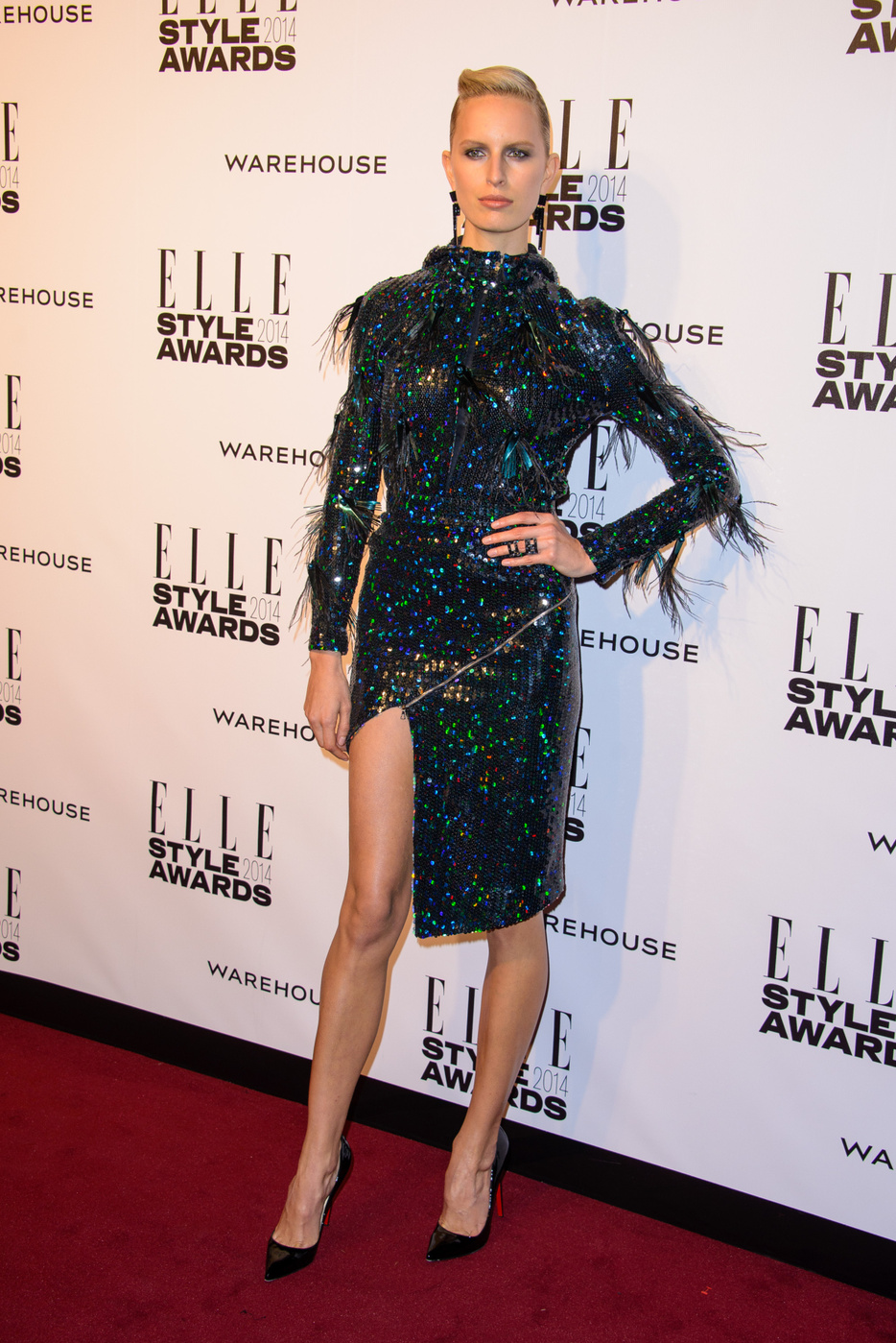 Karolina Kurkova attends  the Elle Style Awards 2014 at one Embankment in London