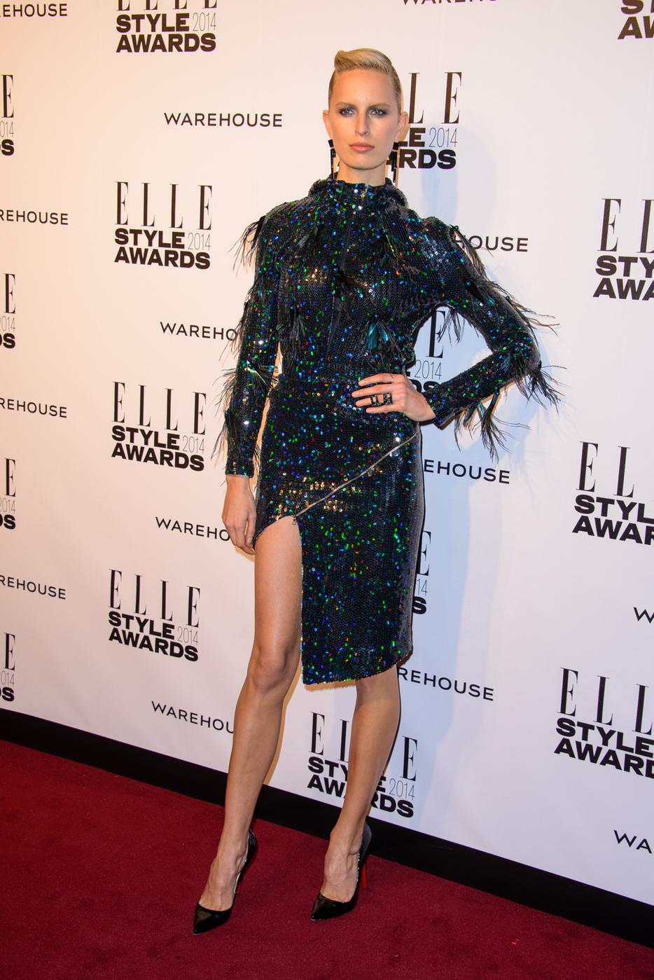 Karolina Kurkova attends  the Elle Style Awards 2014 at one Embankment in London