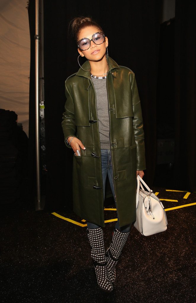 zendaya-coleman-rebecca-minkoff-fall-2014-show-vintage-dior-sunglasses-rebecca-minkoff-fall-2013-coat-bag-boots-1