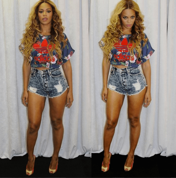 Beyonce's Instagram Atlanta On the Run Concert Tour Adidas Floral Crop Top