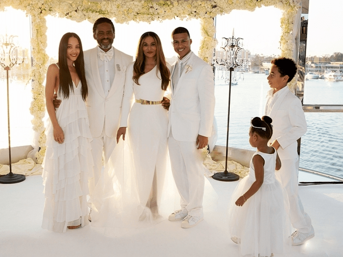 2  tina knowles kelly rowland solange knowles beyonce lawson angie beyince richard lawson wedding