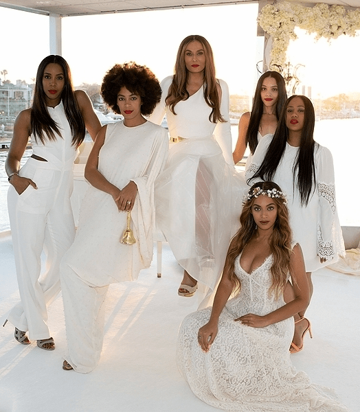 tina knowles kelly rowland solange knowles beyonce lawson angie beyince richard lawson wedding