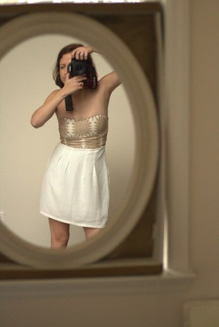 DIY Dress Kit: White Dress, Beige Lace, and Charms