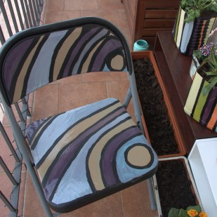 DIY Patio Chair Decoration