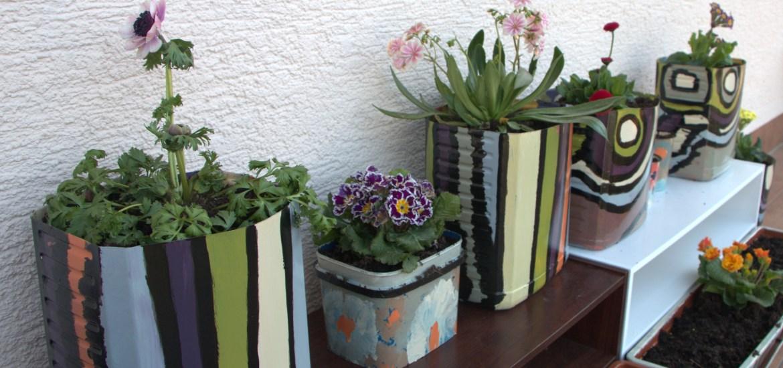 Painting DIY Flower Pots
