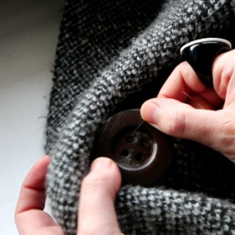 How to Restyle Old Clothes: DIY Button-Front Cardigan