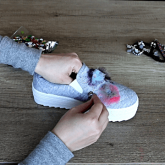 Shoe Decoration Ideas with Tulle and Sequins
