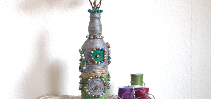 Decorating Bottle with Twine