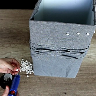 DIY Lampshade Makeover: How to recover lampshade with fabric