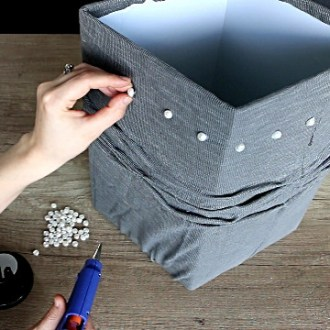 DIY lampshade recover: making lampshades from fabric