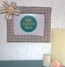 DIY Picture Frame: Fabric-Covered Frame