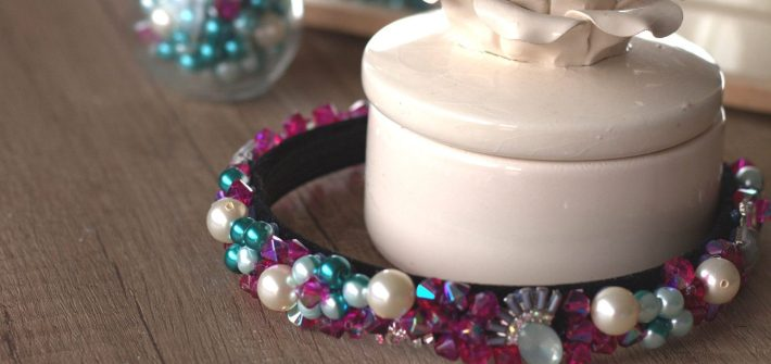 Things to Make with Old Jewelry: DIY Jeweled Headband