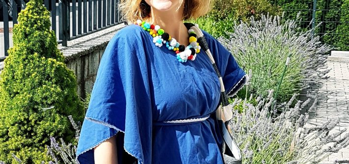 DIY Beach Cover Up Beautiful Pom Pom Poncho
