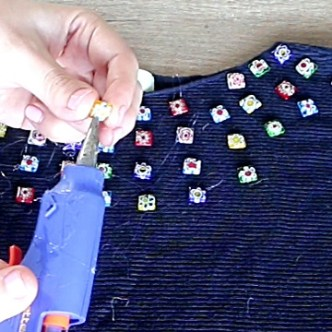 Old Shirts DIY 3 Easy No Sew Beaded Shirt Ideas
