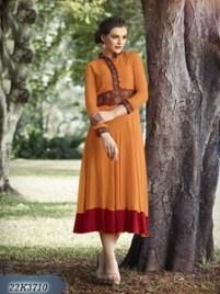 Leemboodi Fashion Orange Kurthi