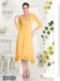 Stylish Yellow Georgette Kurthi