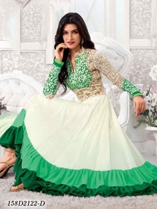 Indian stylish designer bollywood womens semi stitched salwar suit