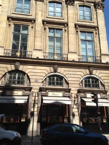 Shop front of Chopard Rue Saint Honore
