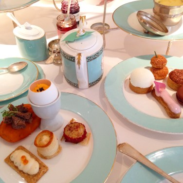 Afternoon tea set in Fortnum and Mason