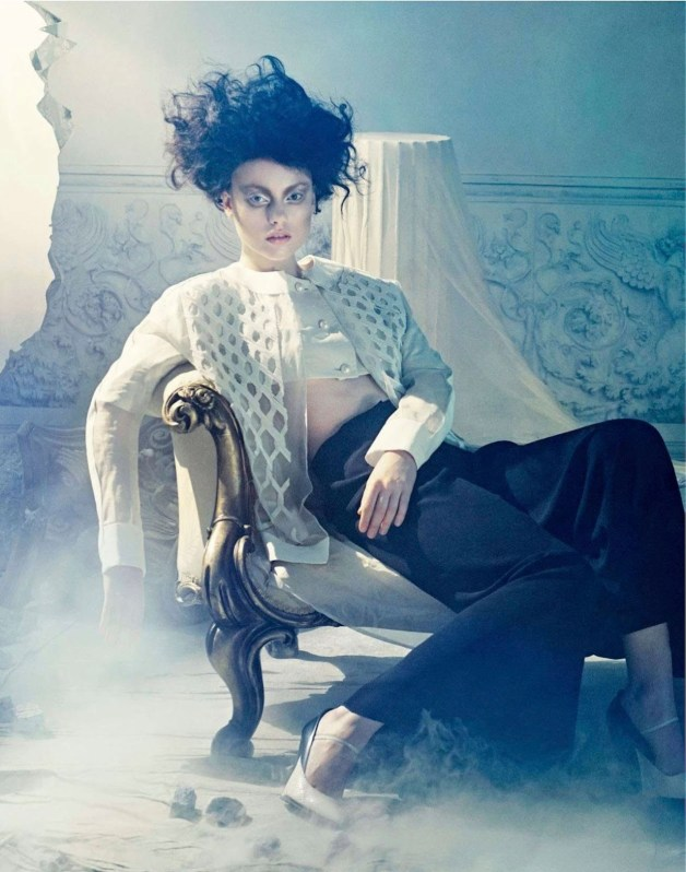Luize Salmgrieze in 'Omaggio A Cocteau' by Sandrine Dulermo & Michael Labica for Amica