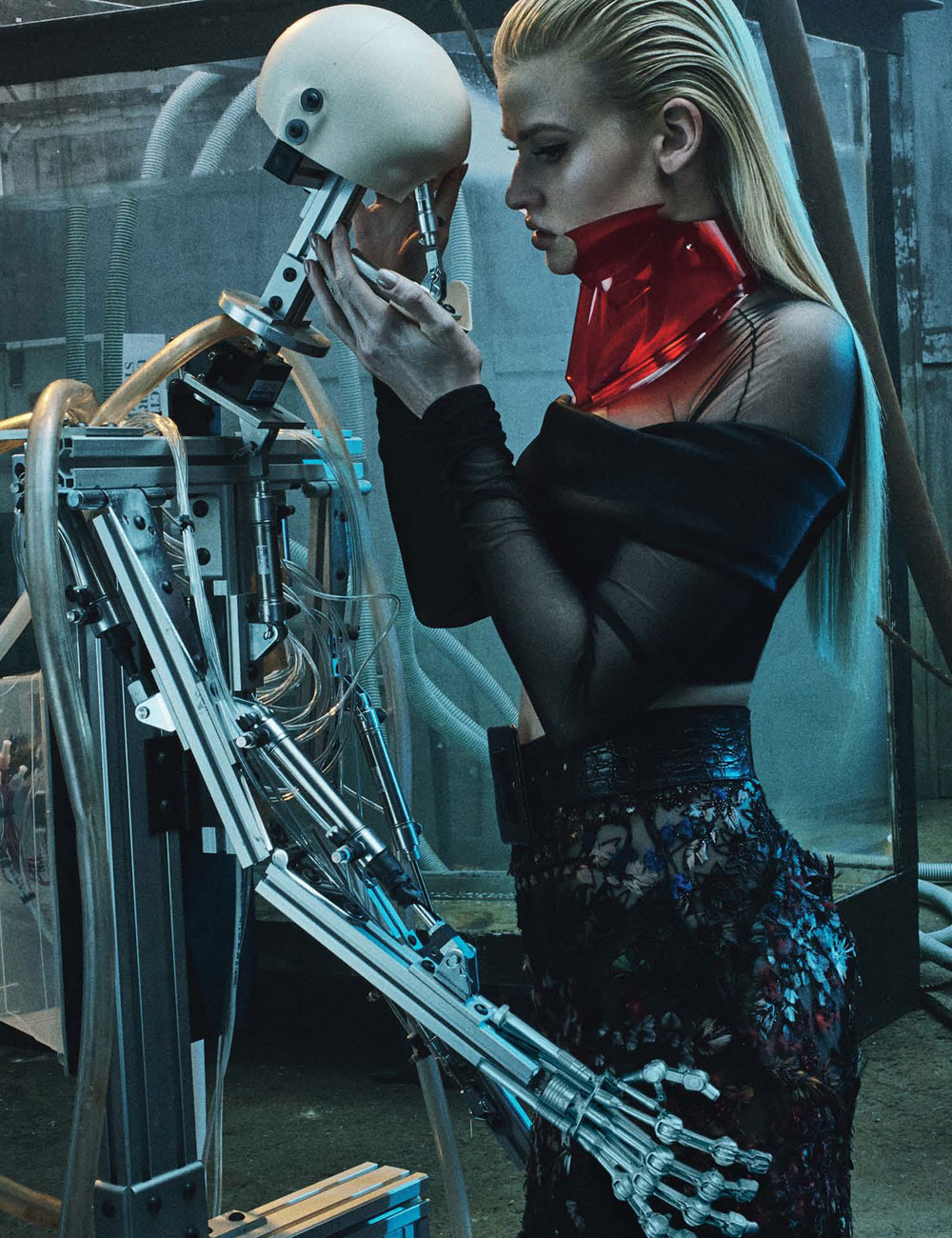 Love The Stone Tile For A Patio: Lara Stone In 'Love Machine' By Steven Klein For W