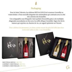 Champagne Gremillet red & gold 2020
