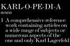 KARLOPEDIA KARL largerfeld fdm loves brigitte segura copy