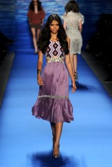 A model walks the runway at the Tracy Reese Spring 2011 fashion show during Mercedes-Benz Fashion Week at The Studio at Lincoln Center on September 13, 2010 in New York City.