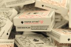 CHARLOTTE RONSON and PROPER attire condoms collaboration on FDM fashiondailymag.com