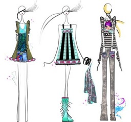 spring summer 2011 preview custo barcelona sketches on FDM www.fashiondailymag.com by Brigitte Segura