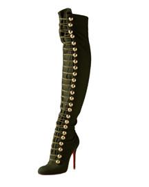 Christian-Louboutin-Flannel-Over-The-Knee-Boot-www.fashiondailymag.com-Brigitte-Segura